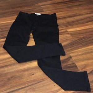 Current/ Elliott  The Ankle Skinny Jet Black Jeans